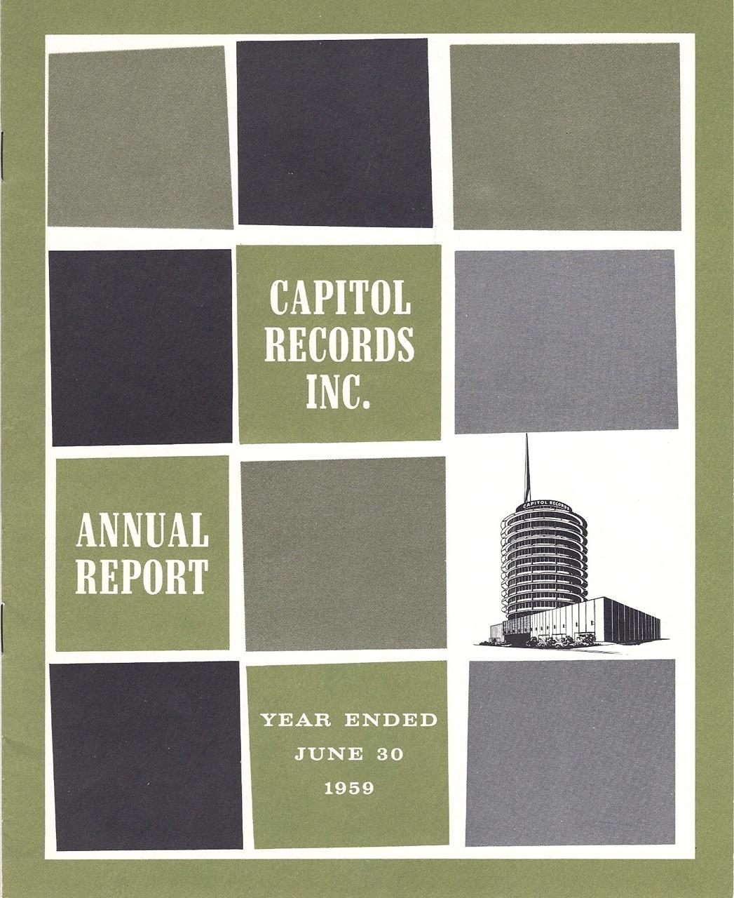 Capitol Records Annual Report 1959
